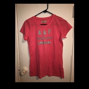 abercrombie & fitch pink tee